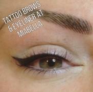 Tattoo brows  & Eyeliner