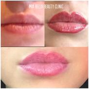 Lip line and blush