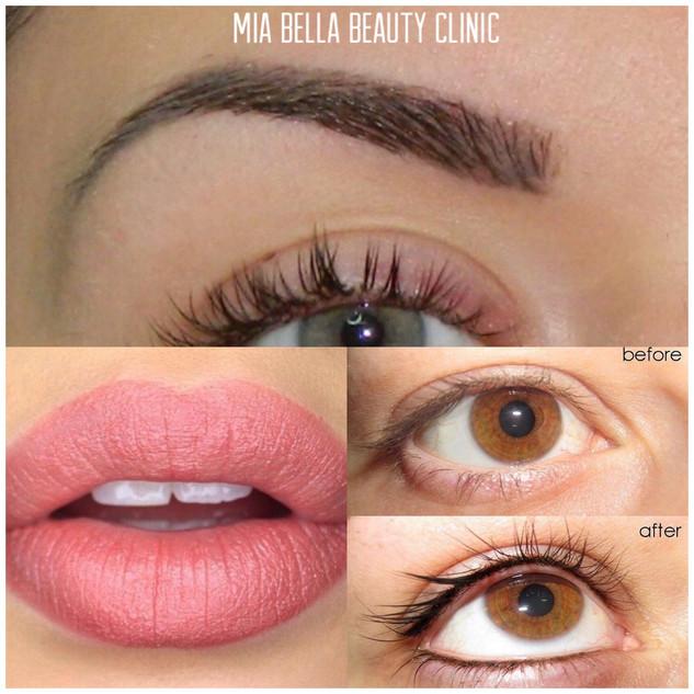 Lips, brows & eyeline