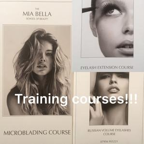 Training courses at Mia Bella