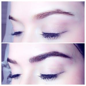 Semi permanent brows