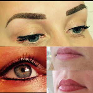 Eyeline, brows and lips
