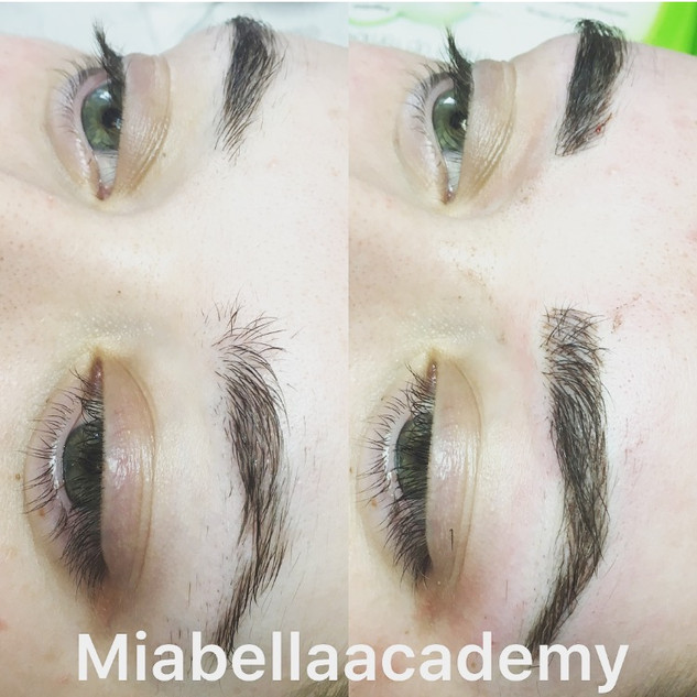 Semi permanent make up - Before & After