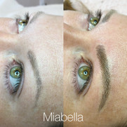 Brows - before after