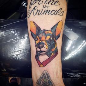Geometric Pet Portrait