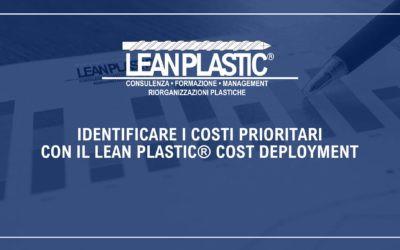 IDENTIFICARE I COSTI PRIORITARI CON IL LEAN PLASTIC® COST DEPLOYMENT - Metodo di esplosione