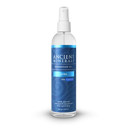 Ancient Minerals Magnesium Oil ULTRA 8oz Spray Bottle (with MSM)