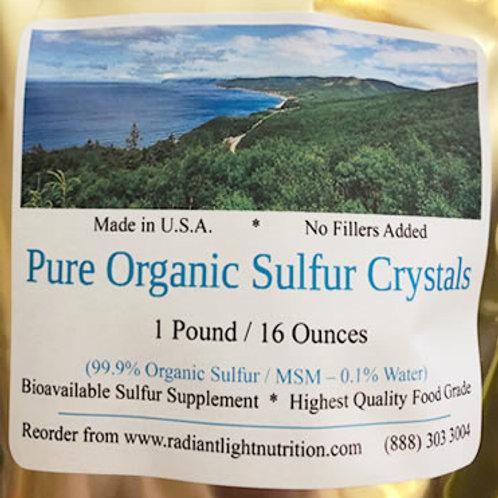 Organic Sulfur Crystals (1lb) ONE BAG