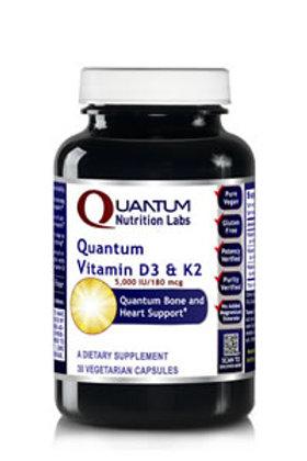 Vitamin D3&K2, Quantum Nutrition Labs (30Vcaps)
