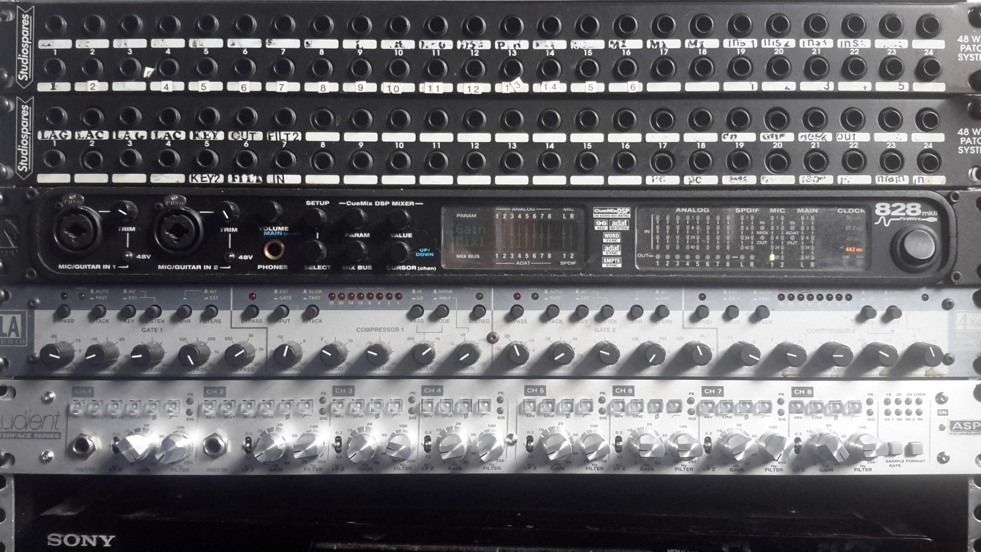 Main equipment rack