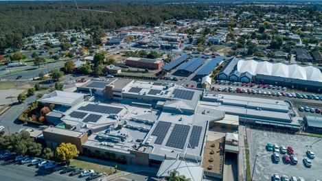 Moama Bowling Club microgrid aerial view
