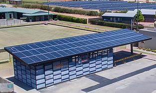 Euston Club solar battery microgrid encl