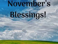 November's Blessings!