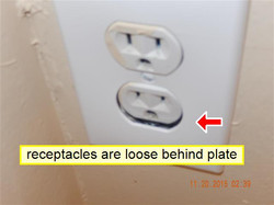 Loose receptacle