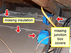 Missing insulation