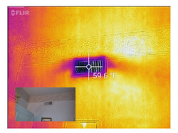 Infrared view of ac vent