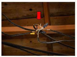 Exposed Conductors in attic