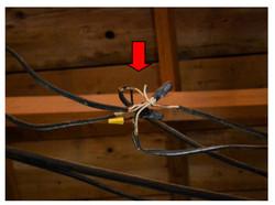 Exposed Conductors in attic