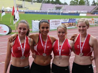 Medaillen an Staffel SM