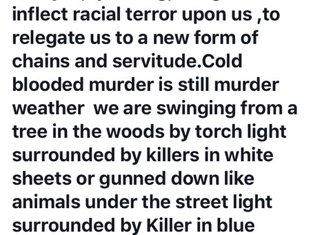 Modern Day Lynching,A Tool of Racial Terror