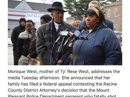 Family of Tyrese West files federal civil rights lawsuit against Mt Pleasant Racine Wisconsin police