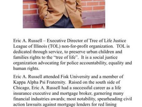 Banker ,Insurance executive and founder of TOLJL Eric A. Russell