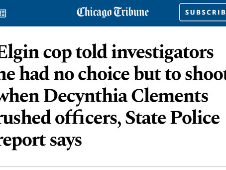 Elgin ILKiller Cop Lies about murdering Dycyntia Clements during her Mental Crisis #BlackLivesInMen