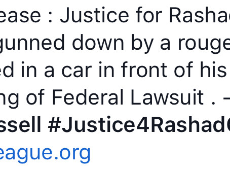 Justice for Rashad Cunningham!!!Federal Lawsuit Filed - The American Activist Eric Russell,Tree of