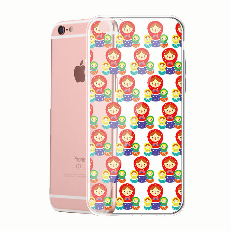 Generic Series Russian Doll Clear Phone Case P1