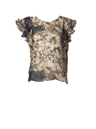 blotch-print-flounce-sleeve-top-front-at