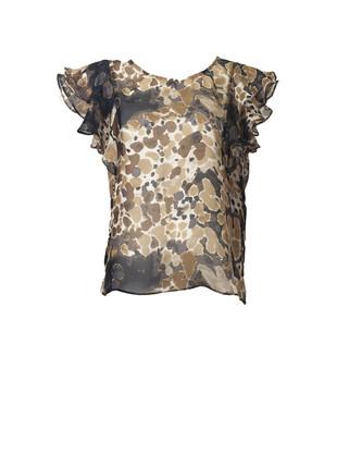 blotch-print-flounce-sleeve-top-front-at
