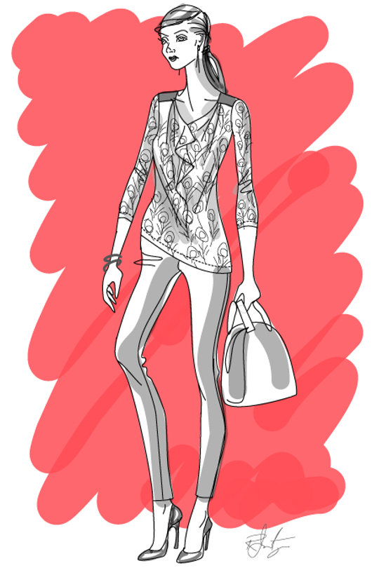 Fashion Illustration by Robert Inestroza