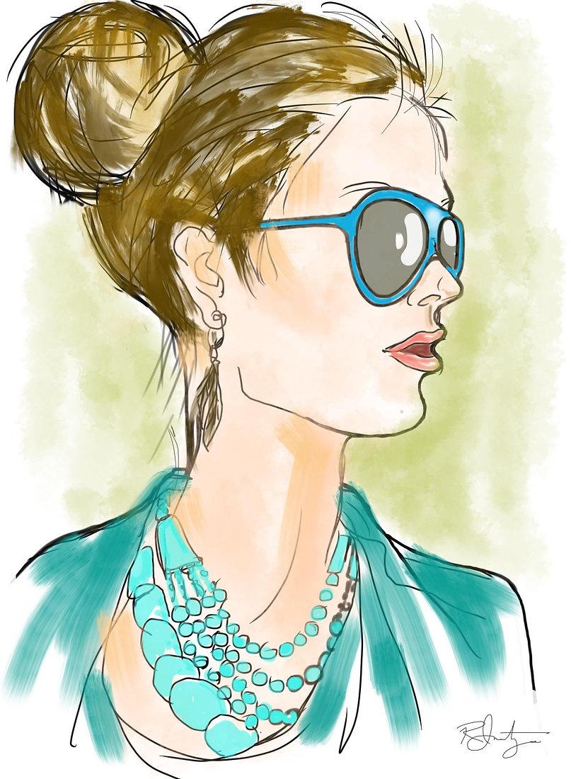 portrait fashion illustration by Robert Inestroza