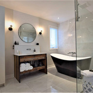 Salle de bain chic rustique