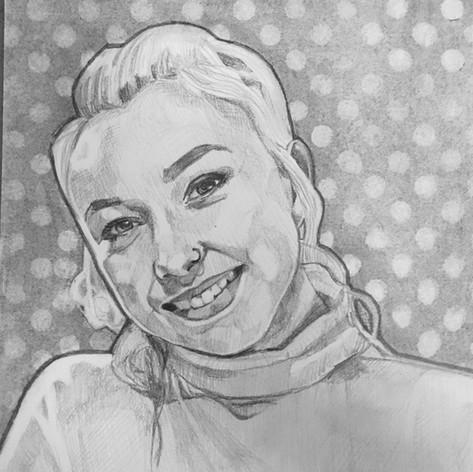 A4 graphite portrait on paper
