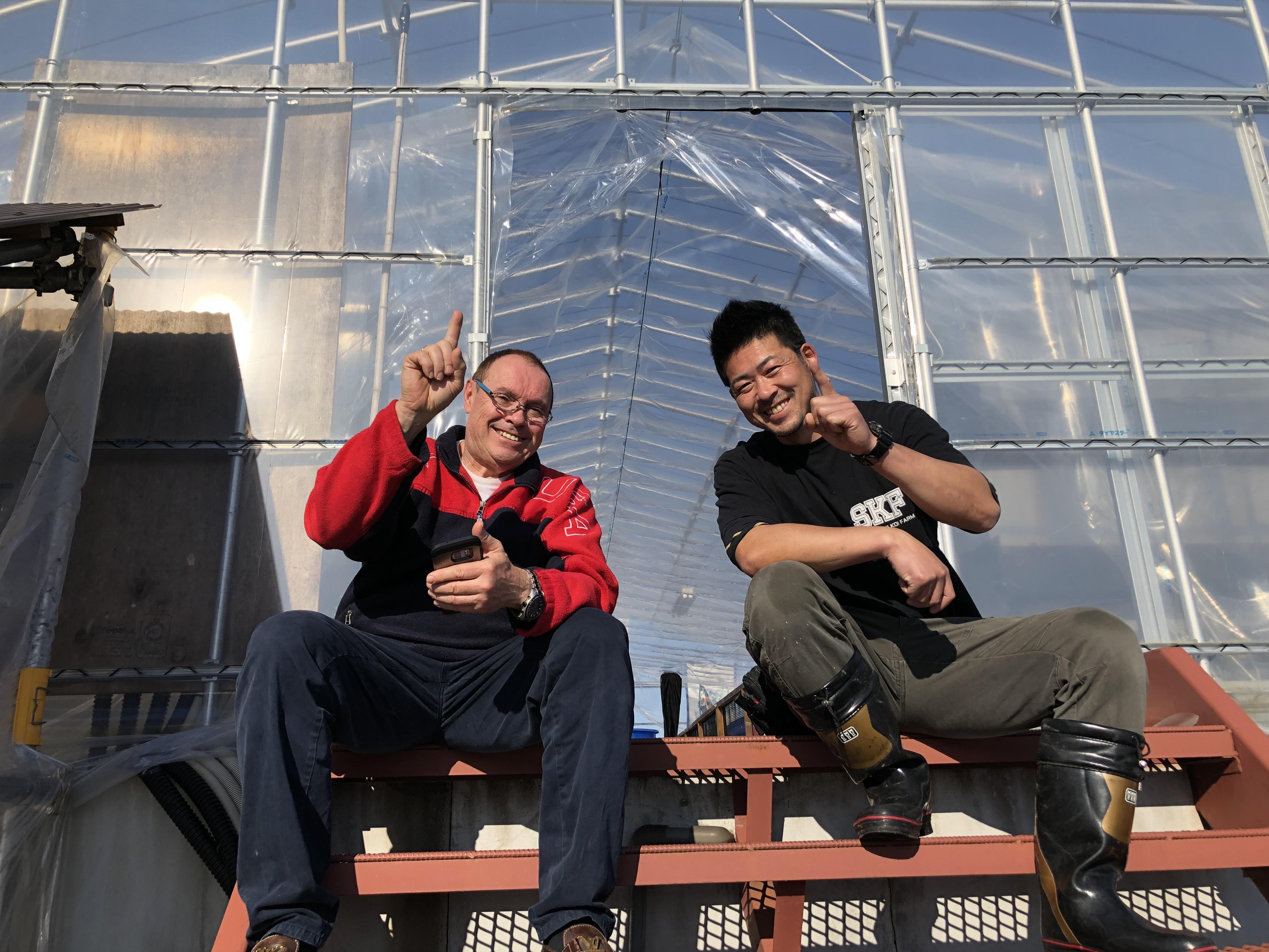 Michel Capot with Masayuki Sekiguchi