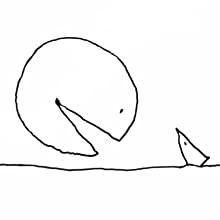 """Ilustração de Shel Silverstein para """"A parte que falta"""""""