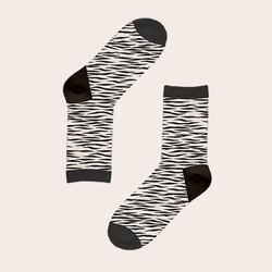 BW zebra socks