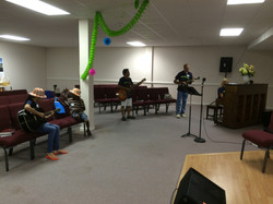 VBS-singing and praising God