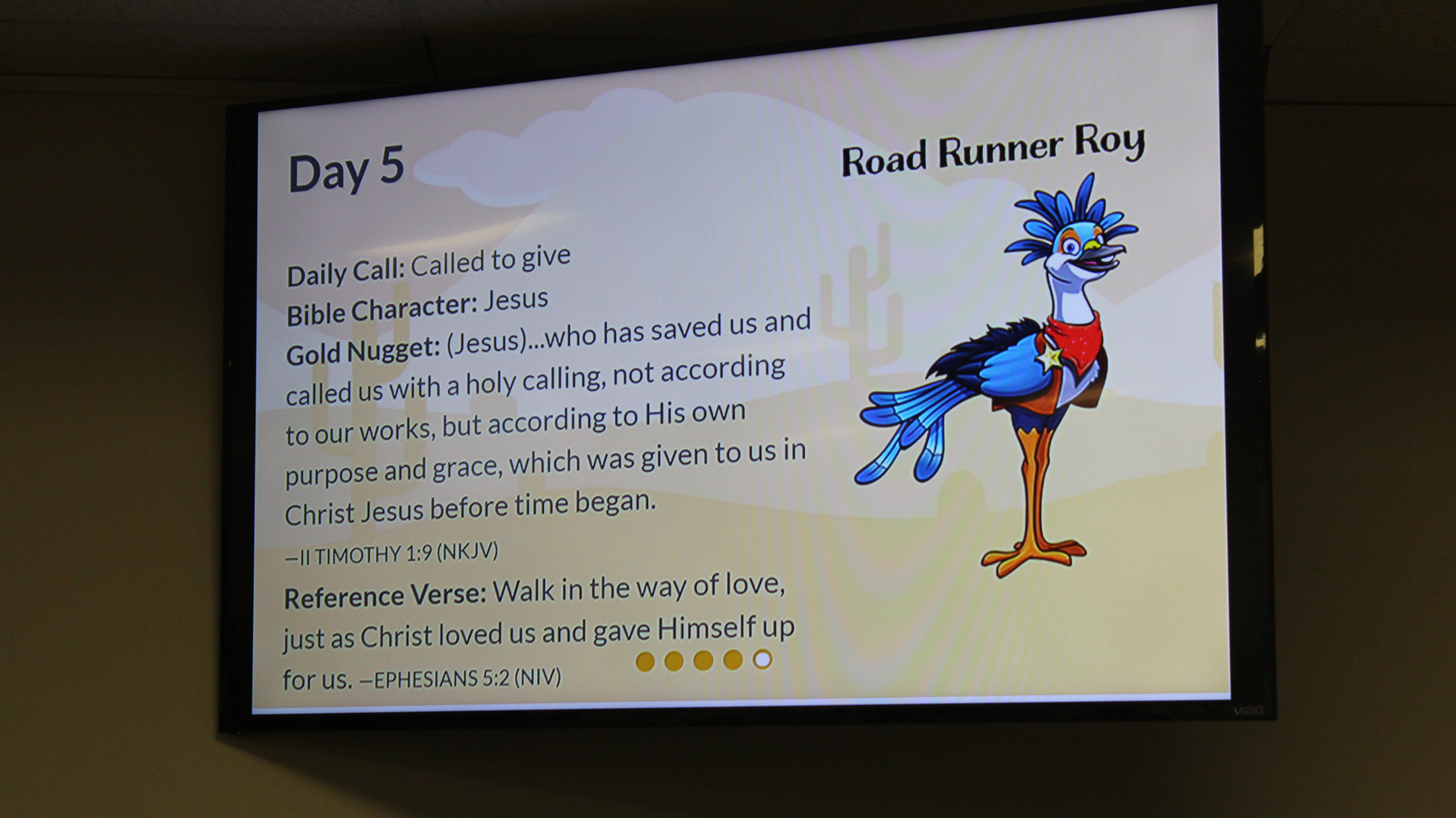 VBS daily call & gold nugget