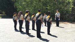 Pathfinder Marching practice