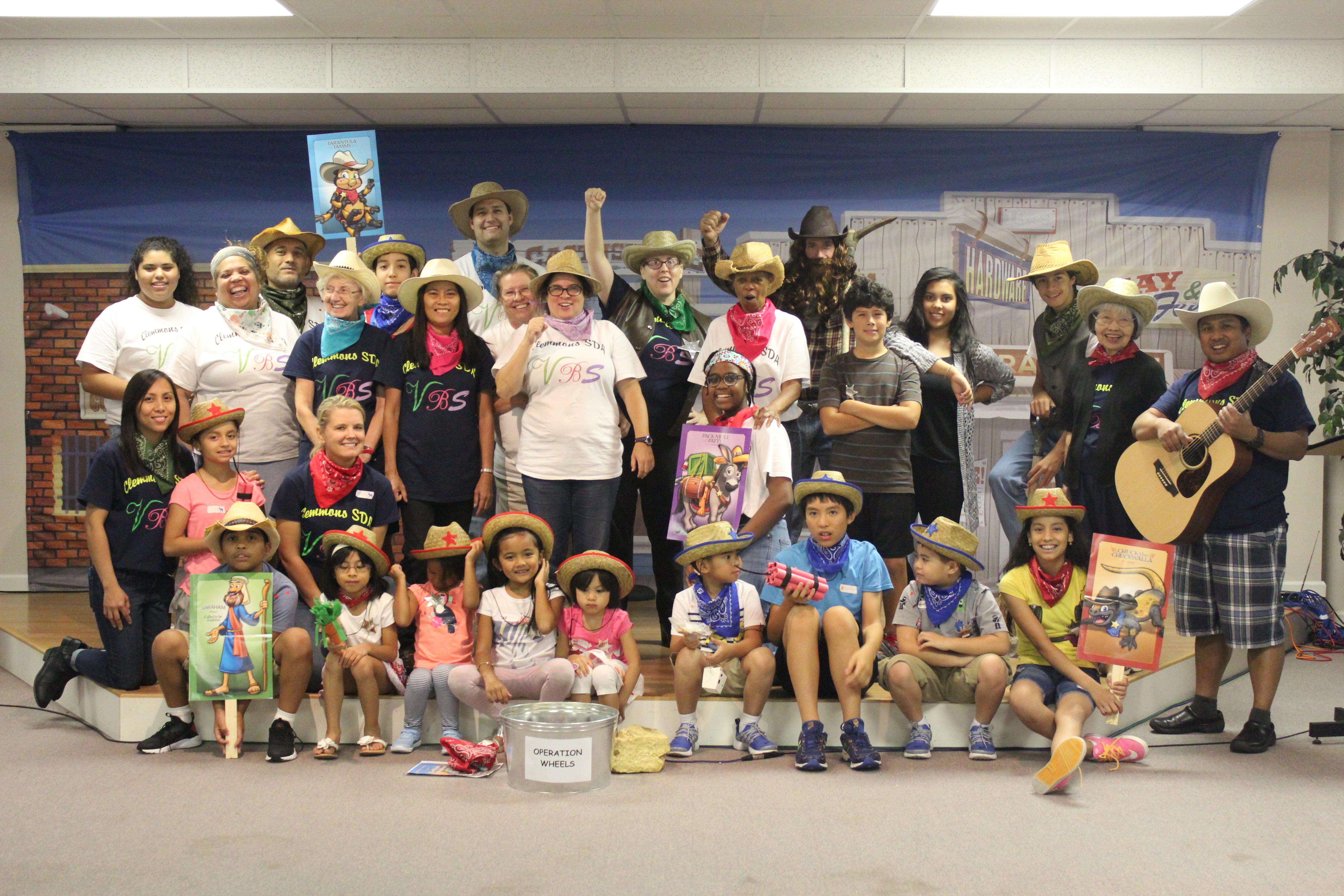 VBS staff & kids