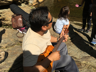 Ukulele at Hanging Rock