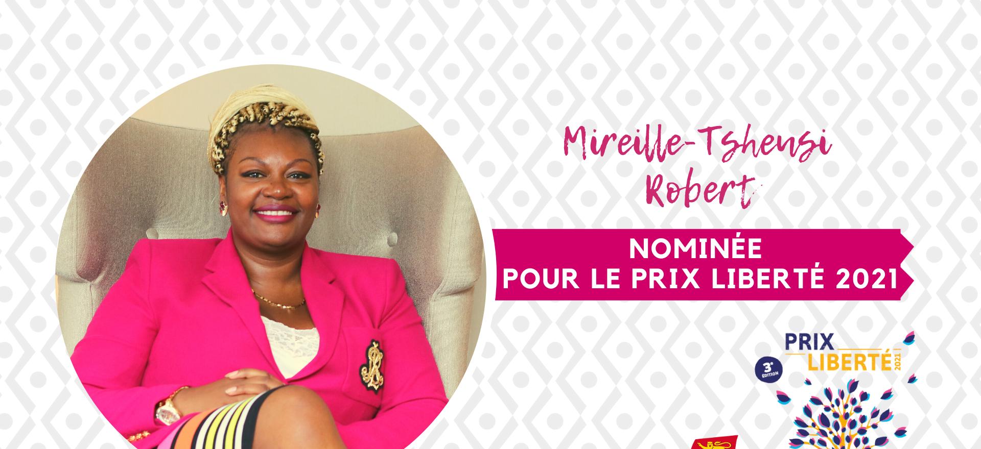 Mireille-Tsheusi Robert au Prix Liberté