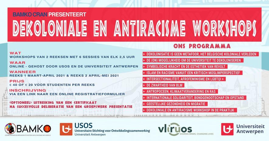 Dekoloniale en antiracisme workshops