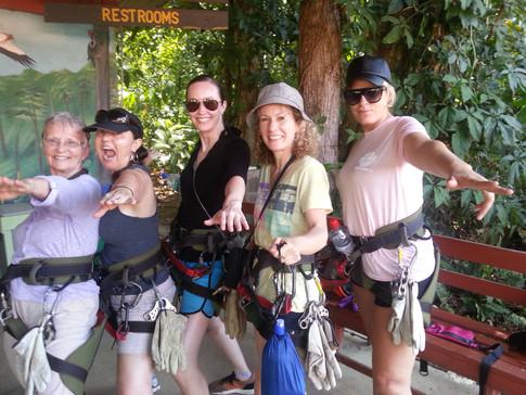 The ziplining group!