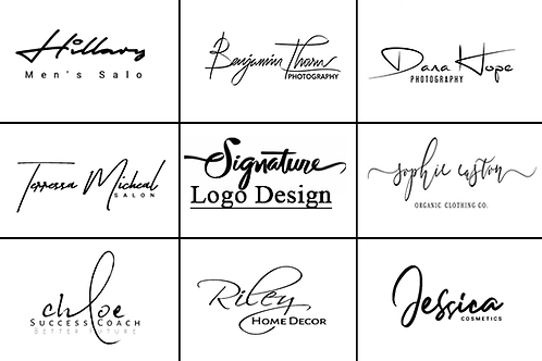 SCRIPTED,SIGNATURE & CALLIGRAPHY LOGOS