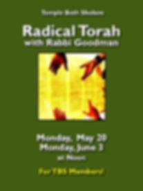 Radical Torah
