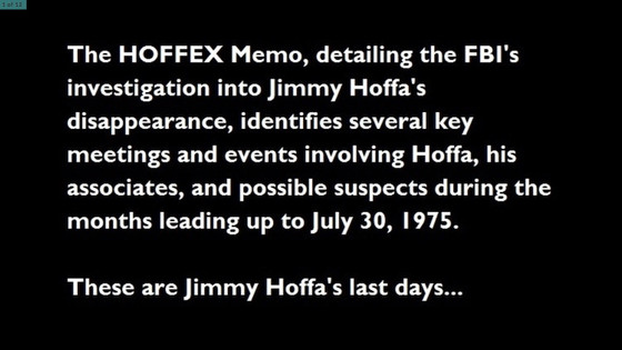 Jimmy Hoffa's Disappearance: 40 Years Later