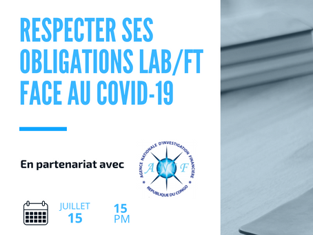 Inscription - Webinaire : Comment faire face à ses obligations LAB/FT face au COVID-19